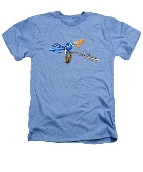 Inked Blue Fairy Wren Heathers T-Shirt by Lorraine Kelly