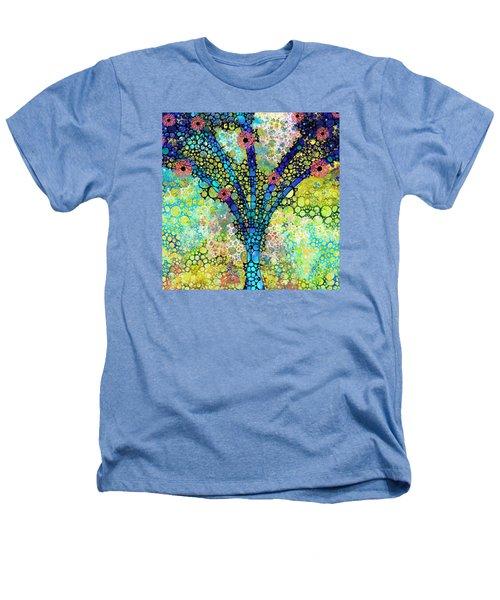 Inspirational Art - Absolute Joy - Sharon Cummings Heathers T-Shirt by Sharon Cummings