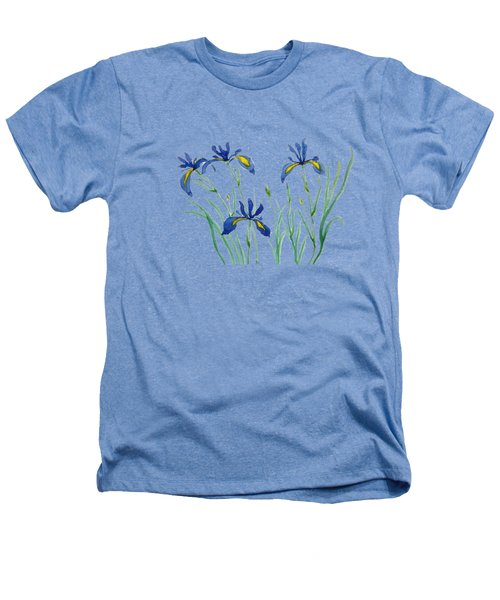 Iris In Japanese Style Heathers T-Shirt by Color Color