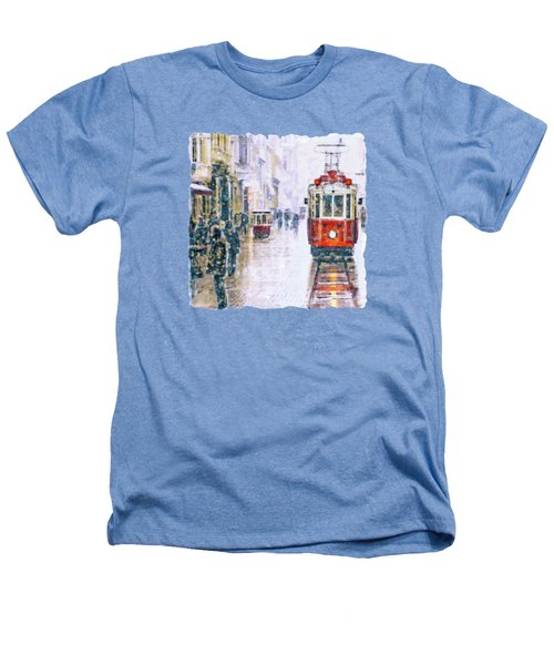 Istanbul Nostalgic Tramway Heathers T-Shirt by Marian Voicu