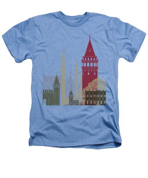 Istanbul Skyline Poster Heathers T-Shirt by Pablo Romero