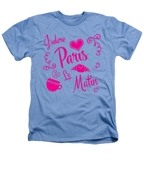 J'adore Paris Le Matin Heathers T-Shirt by Antique Images