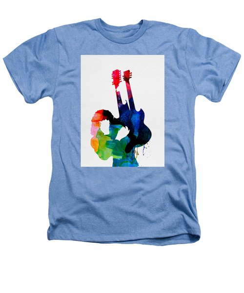 Jimmy Watercolor Heathers T-Shirt by Naxart Studio