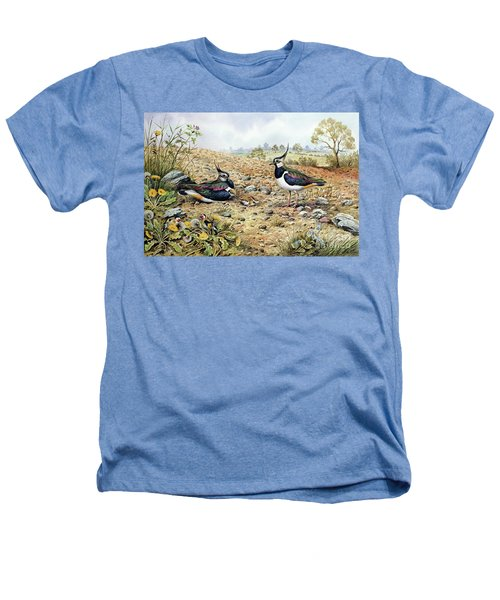 Lapwing Family With Goldfinches Heathers T-Shirt by Carl Donner
