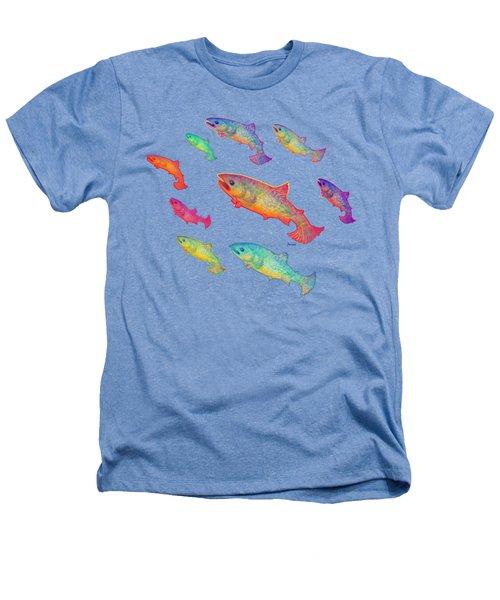 Leaping Salmon Shirt Image Heathers T-Shirt by Teresa Ascone