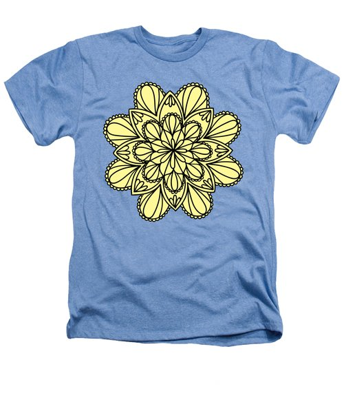 Lemon Lily Mandala Heathers T-Shirt by Georgiana Romanovna