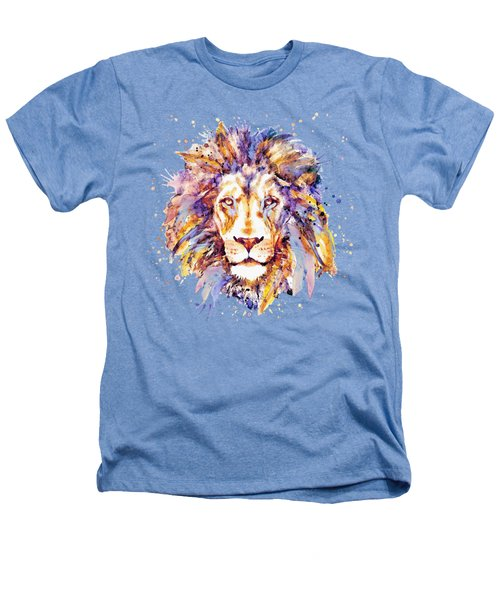 Lion Head Heathers T-Shirt by Marian Voicu