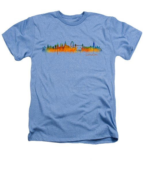 London City Skyline Hq V2 Heathers T-Shirt by HQ Photo