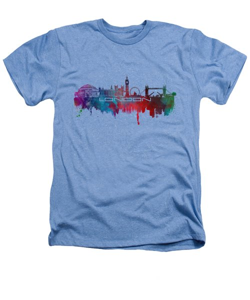 London Skyline City Blue Heathers T-Shirt by Justyna JBJart