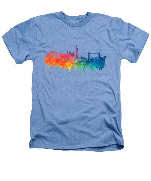 London Skyline City Color Heathers T-Shirt by Justyna JBJart