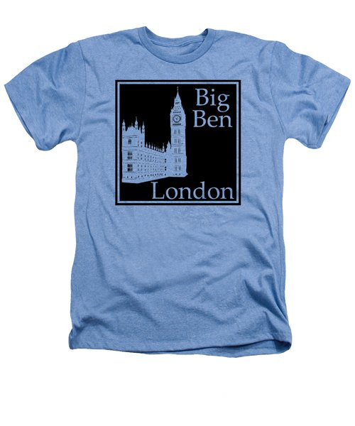 London's Big Ben In Black Heathers T-Shirt by Custom Home Fashions
