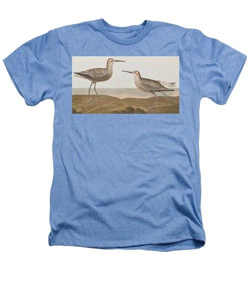 Long-legged Sandpiper Heathers T-Shirt by John James Audubon