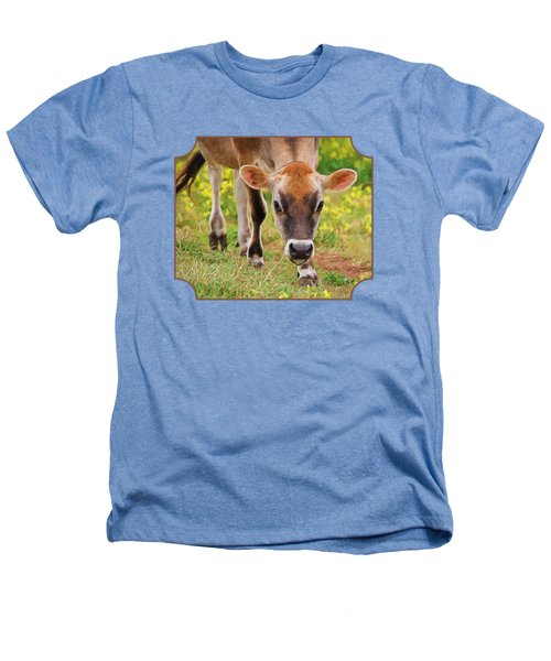 Look Into My Eyes - Painterly Heathers T-Shirt by Gill Billington