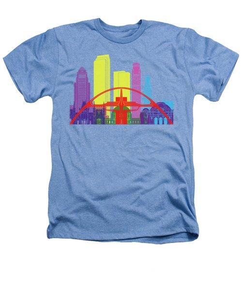 Los Angeles Skyline Pop Heathers T-Shirt by Pablo Romero