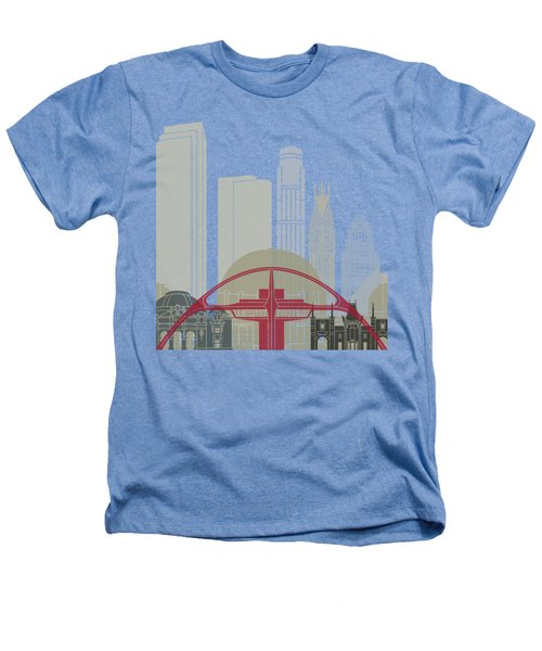 Los Angeles Skyline Poster Heathers T-Shirt by Pablo Romero