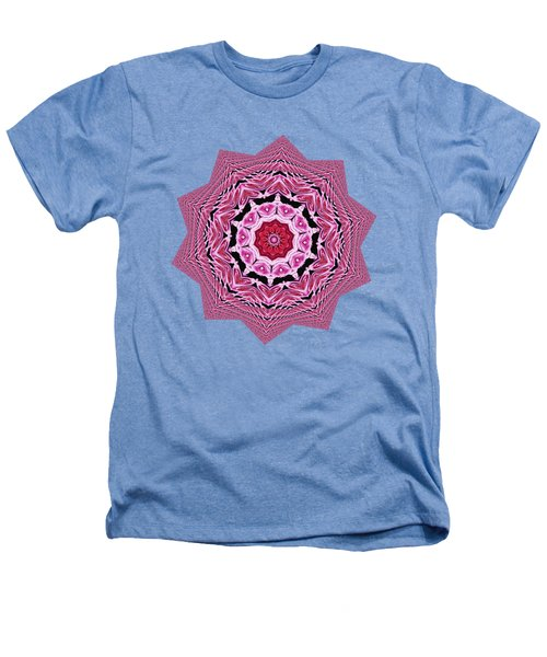 Loving Rose Mandala By Kaye Menner Heathers T-Shirt by Kaye Menner