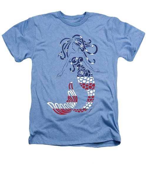 Made In The Usa Tribal Mermaid Heathers T-Shirt by Heather Schaefer