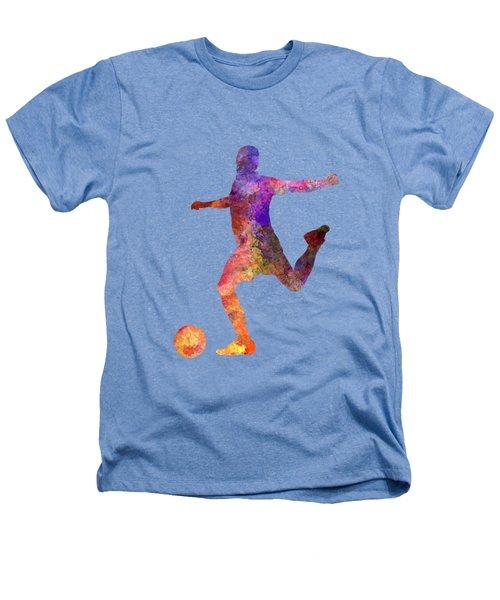 Man Soccer Football Player 03 Heathers T-Shirt by Pablo Romero