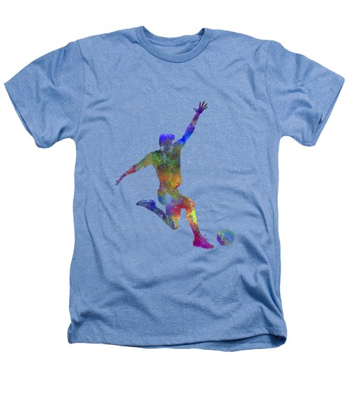 Man Soccer Football Player 05 Heathers T-Shirt by Pablo Romero