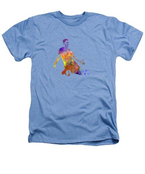 Man Soccer Football Player 13 Heathers T-Shirt by Pablo Romero