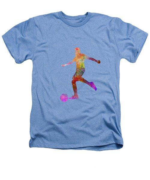 Man Soccer Football Player 16 Heathers T-Shirt by Pablo Romero