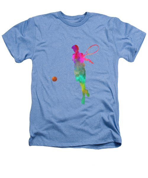 Man Tennis Player 01 In Watercolor Heathers T-Shirt by Pablo Romero