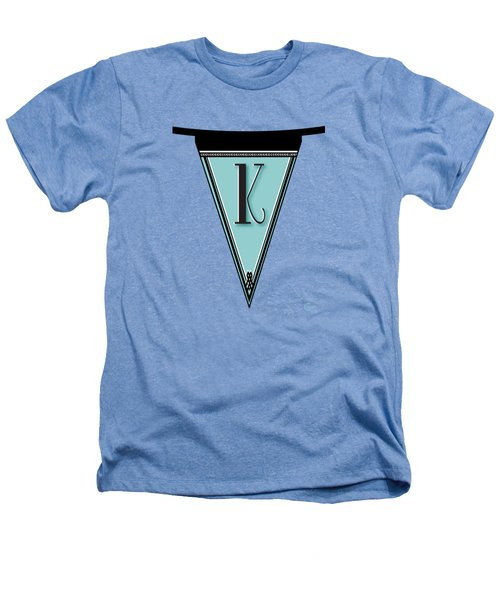 Pennant Deco Blues Banner Initial Letter K Heathers T-Shirt by Cecely Bloom