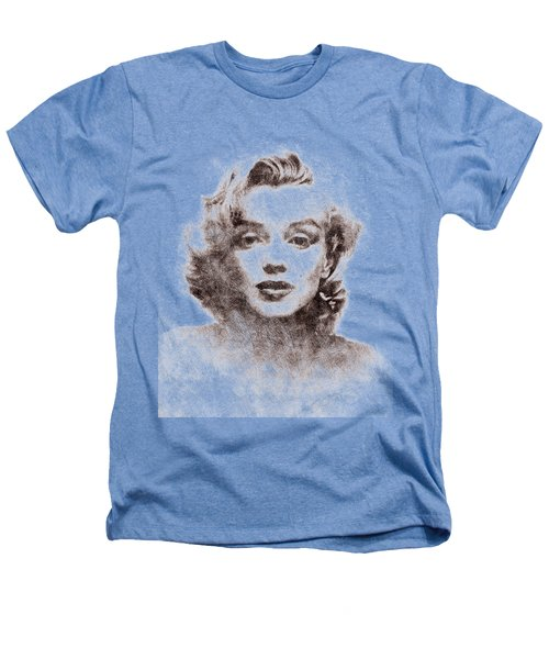 Marilyn Monroe Portrait 04 Heathers T-Shirt by Pablo Romero
