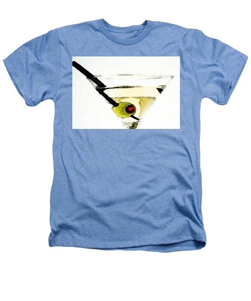 Martini With Green Olive Heathers T-Shirt by Sharon Cummings