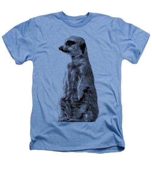 Meerkat Etching Heathers T-Shirt by Greg Noblin