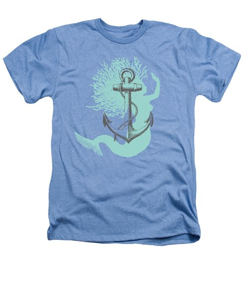 Mermaid And Anchor Heathers T-Shirt by Sandra McGinley