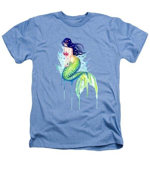 Mermaid Splash Heathers T-Shirt by Sam Nagel