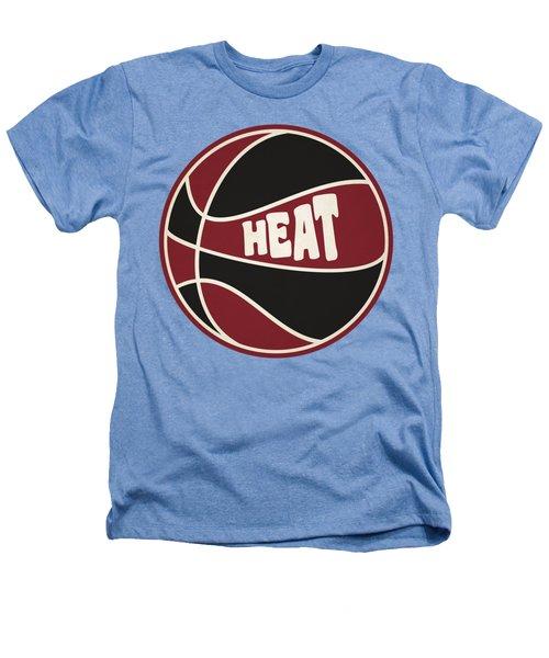Miami Heat Retro Shirt Heathers T-Shirt by Joe Hamilton