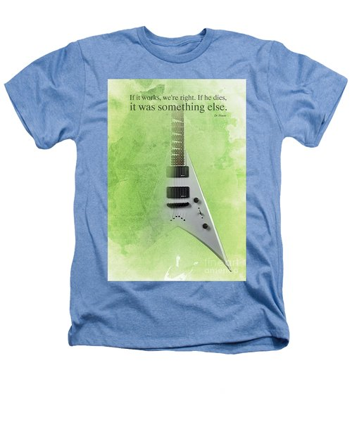 Mr Spock Inspirational Quote And Electric Guitar Green Vintage Poster For Musicians And Trekkers Heathers T-Shirt by Pablo Franchi