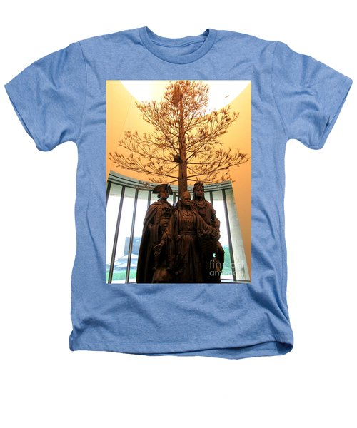National Museum Of The American Indian 7 Heathers T-Shirt by Randall Weidner