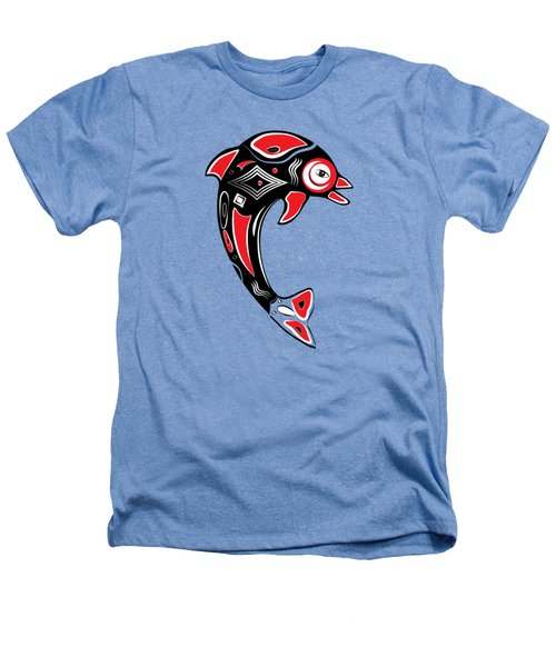Native American Animal Dolphin Symbol Heathers T-Shirt by Serena King