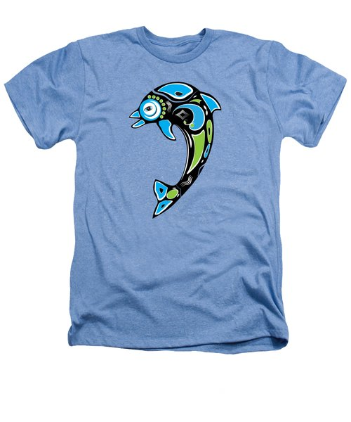 Native American Inspired Dolphin Symbol Heathers T-Shirt by Serena King