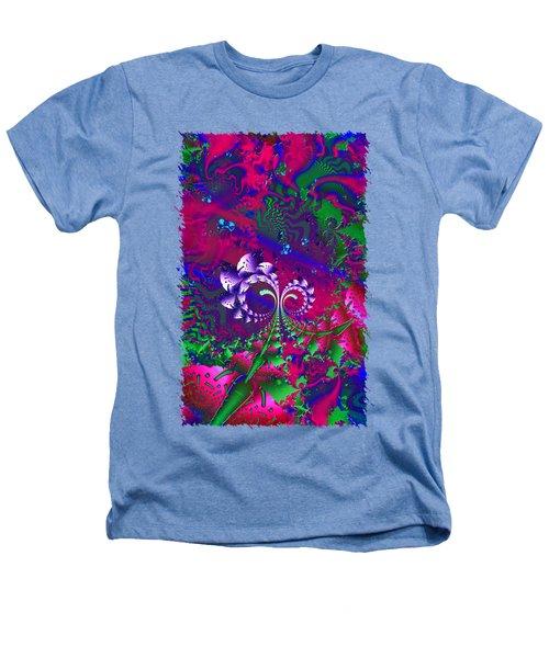Nerd Berries Psychedelic Fractal Heathers T-Shirt by Sharon and Renee Lozen