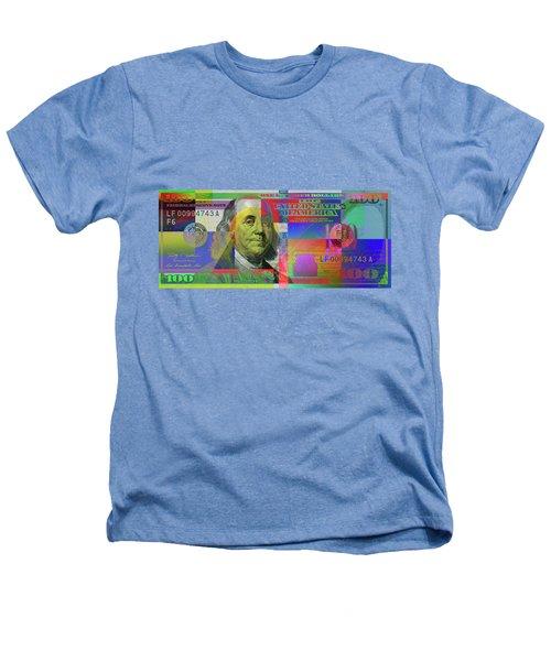 2009 Series Pop Art Colorized U. S. One Hundred Dollar Bill  V.3.0 Heathers T-Shirt by Serge Averbukh