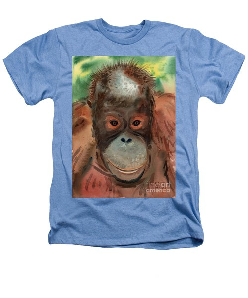 Orangutan Heathers T-Shirt by Donald Maier