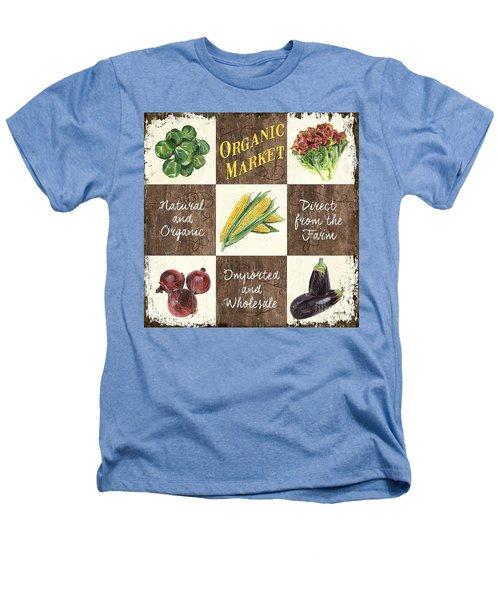 Organic Market Patch Heathers T-Shirt by Debbie DeWitt