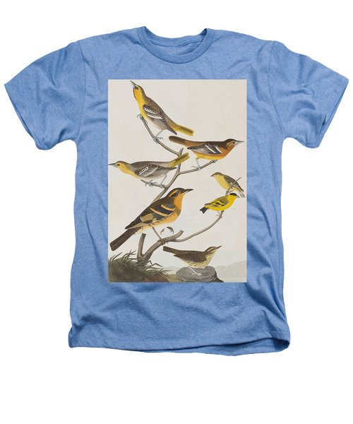 Orioles Thrushes And Goldfinches Heathers T-Shirt by John James Audubon