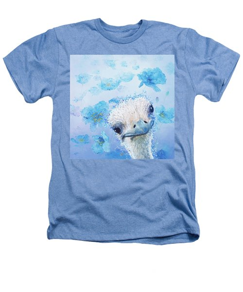 Ostrich In A Field Of Poppies Heathers T-Shirt by Jan Matson