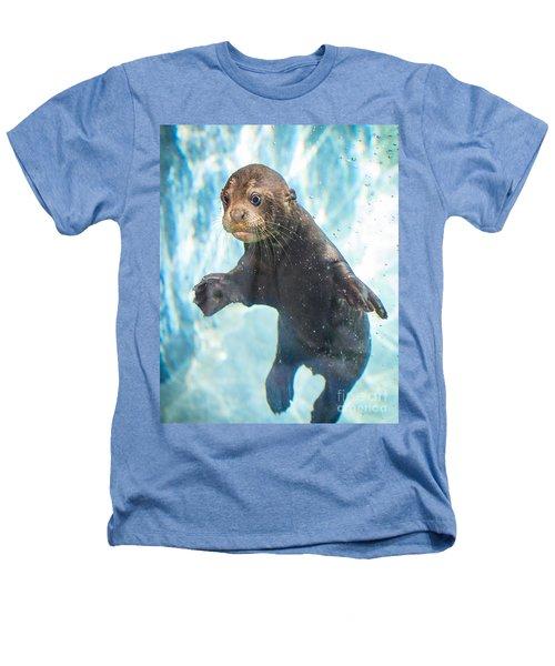 Otter Cuteness Heathers T-Shirt by Jamie Pham