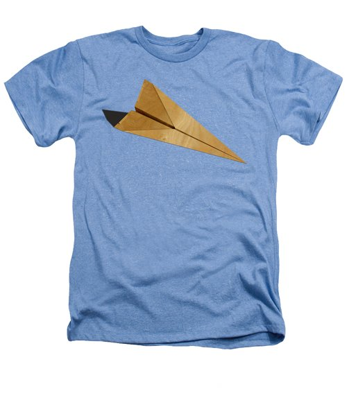 Paper Airplanes Of Wood 15 Heathers T-Shirt by YoPedro
