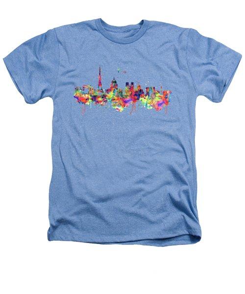 Paris Skyline 2 Heathers T-Shirt by Marian Voicu