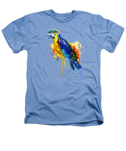 Parrot Watercolor  Heathers T-Shirt by Marian Voicu