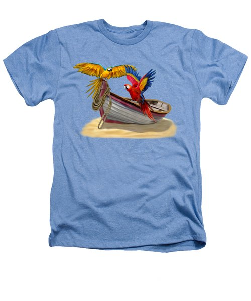 Parrots Of The Caribbean Heathers T-Shirt by Glenn Holbrook