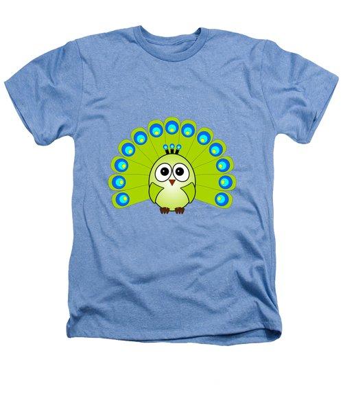 Peacock  - Birds - Art For Kids Heathers T-Shirt by Anastasiya Malakhova