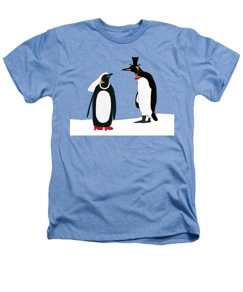 Penguin Marriage Heathers T-Shirt by Priscilla Wolfe